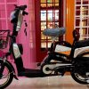 "Electric Bike Grocery, 16"" Wheels Electric Bicycle, 48V Aluminum Alloy with LED Display, Two Seats E-Bike"