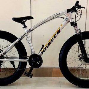 Fat Tire Adult Mountain Bike, High-Carbon Steel Frame Cruiser Bikes, Beach Snowmobile Bicycle, Double Disc Brake 26 Inch Wheels