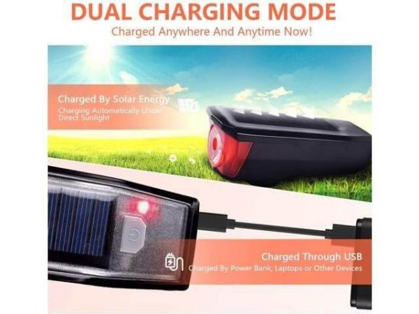 HJ052 USB Rechargeable Bike Light Set Super Bright Front Headlight Kids Adults Men Women Road Cycling Safety Easy to Install