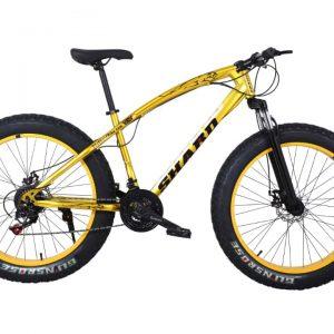 Shard Fat Tire Adult Mountain Bike, High-Carbon Steel Frame Cruiser Bikes, Beach Snowmobile Bicycle, Double Disc Brake 26 Inch Wheels 21 speed