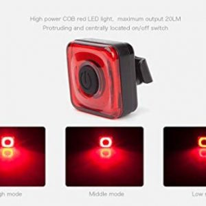 Bicycle Magicshine, Small, Portable, Convenient USB Rechargeable Rear Bike Light Bike Lights.Seemee 20 Bike Taillight 20 lumens max Output Bike Blinker