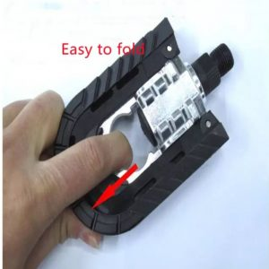 Easy to fold MTB road bike accessories plastic and Aluminum bicycles pedal bicycle parts flat fold bicycles pedal